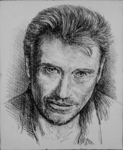 Portrait Of Johnny Hallyday By Copau On Stars Portraits